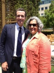 With Lt. Gov. Newsom  at Gold Team press conference